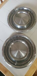 1962 1963 Lincoln Continental Wheel Covers Hubcaps Set Of 2
