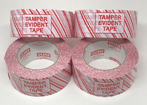 Lot Of 4 Ulne S 9926 Industrial Security Tape tamper Evident 2 X 110 Yds
