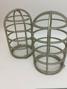 Lot Of 2 Vintage Crouse Hinds Explosion Proof Light Cage V912