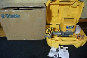 Trimble Red Beam Laser Level Model Ll500 With Hl700 Receiver Never Used
