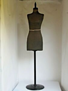 Antique Ladies Dress Form Iron Base Standard Specialty Co Small Waist
