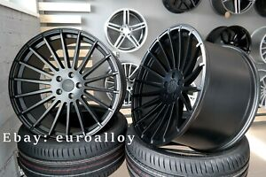 New 22 Inch 5x108 Haxer Hx010 Black Wheels For Jaguar Land Rover Volvo Concave