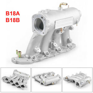 Racing Aluminum Intake Manifold For 90 01 Acura Integra Rs Ls Gs B18 B18a1 b1