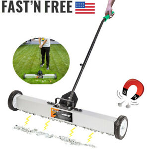 Oshion 36inch Magnetic Pick up Floor Sweeper Roller Push Broom Tool With Wheel