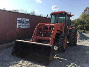 2007 Kubota M8200 4x4 85hp Utility Tractor W Cab Loader Only 2100hrs Clean