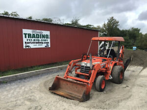 2001 Kubota B7300 4x4 Hydro Compact Tractor Loader Backhoe Only 1400hrs