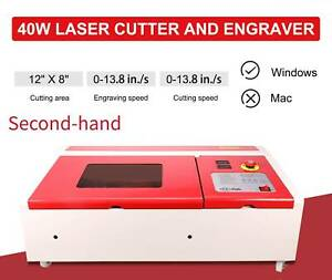 Second hand Upgraded 40w Co2 Laser Engraving Cutting Machine 12 X 8in