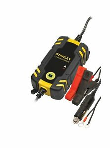 Stanley Fully Automatic 1 5 Amp 12v Battery Charger maintainer Motorcycle Auto