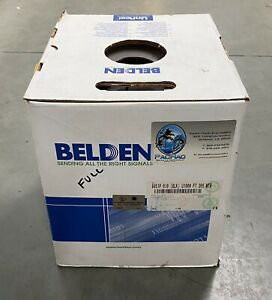 Belden 9451p 010 Multi Conductor Single pair Plenum 22 Awg Cable 1000 Ft Black