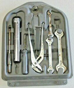 Bmw Oem E30 Small Trunk Tool Kit Tow Hook Wrench Spanner Pliers Crank Flat Head