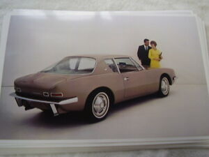 1963 Studebaker Avanti 11 X 17 Photo Picture