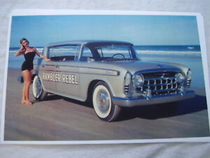 1957 Rambler Rebel In Color 11 X 17 Photo Picture