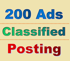 200 Classified Ads Posting Website Promotion Local Advertising Site Traffic