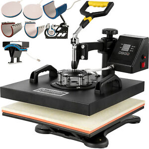 8 In 1 Heat Press Machine For T shirts 15 034 x15 034 Combo Kit Sublimation S