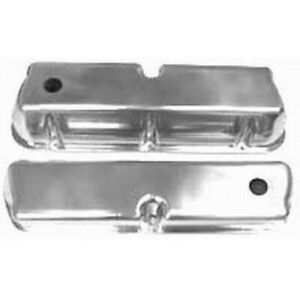 Racing Power R6171 Valve Cover Tall Baffled Aluminum Polished For Sb Ford New