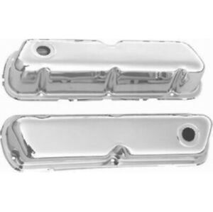 Racing Power R9237 Chrome Valve Cover Baffled For Sb Ford New