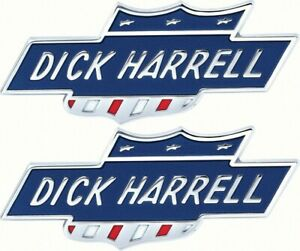 1960 S 1970 S Dick Harrel Tail Panel Fender Bar And Shield Emblem Pair Copo