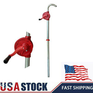 10 Gpm Self priming Drum Hand Pump Crank Iron Rotary Oil Fuel Barrel Heavy Duty