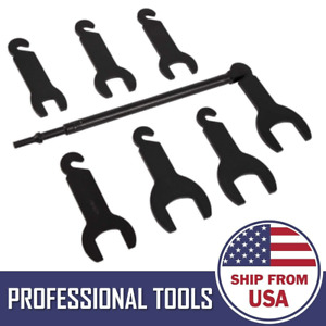 Pneumatic Fan Clutch Wrench Set Removal Tool Kit For Ford Gm Jeep Chrysler 43300