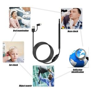 3 In 1 Type c Ear Endoscope Usb 5 5 Mm Visual Earpick Camera Spoon Otoscope
