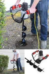 1500w Industrial Electric Post Hole Digger Fence Plant Soil Dig Powerhead