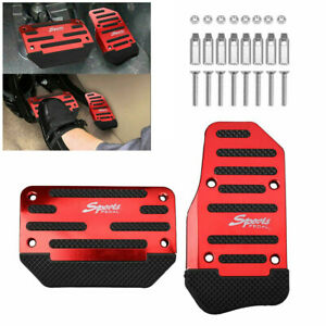 Universal Red Non Slip Automatic Gas Brake Foot Pedal Pad Cover Car Accessories