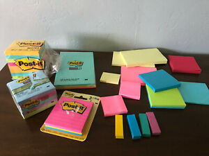 Post It Sticky Notes Huge Lot Pop Up Bookmarks Pads 2 5 Lbs Pounds