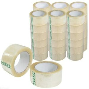 72 Rolls 2 X 110 Yards Clear Box Carton Sealing Packing Package Tape 2mil 330ft