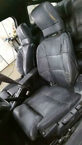 Chrysler Conquest starion Black Leather Seat Set front rear Oem