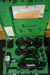 Greenlee Hydraulic Knockout Set Model 7310 1 2 Through 4