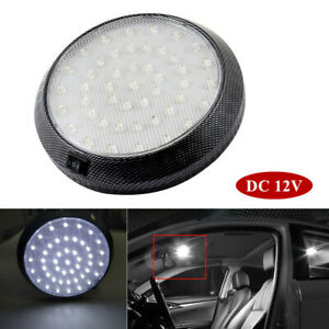 12v 46led Round Car Vehicle Interior Dome Lights Indoor Roof Ceiling Lamps White