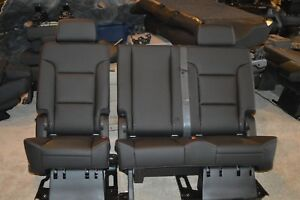 15 18 Tahoe Yukon Escalade Leather Second 2nd Row Seat Ebony black Oem New