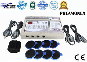 Electrotherapy Physical Therapy Machine Physiotherapy 4 Channel Pain Relief Mnjh