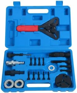 21pcs A C Compressor Clutch Hub Remover Kit Air Conditioning Puller Install Tool