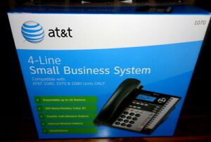 At t 4 line Small Business System Phone 1070 1040 1080 Compatible Black In Box