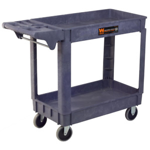 Service Utility Cart 40 X 17 In Extra Large Garage Storage Heavy Duty Tool Cart