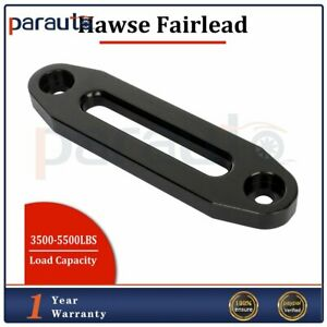 Hawse Fairlead For Synthetic Winch Rope Cable Lead Guide Atv Utv Offroad Black