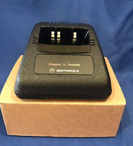 New Motorola Rapid Battery Charger Ntn1171a For Ht1000 Base Only Oem
