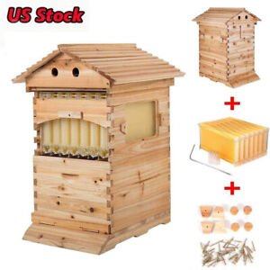 7pcs Auto Beehive Frame Comb Bee Hive Boxes For Beekeepers Food Grade Bpa