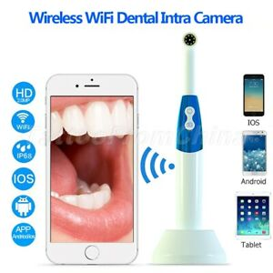 10m Wireless Wifi Dental Oral Camera Handle Intraoral Endoscope With Led Light