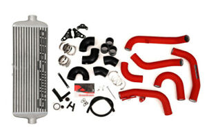 Grimmspeed Front Mount Intercooler Kit Raw Core Red Pipe For 2015 Subaru Sti