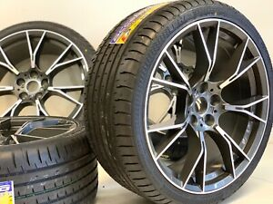 20 Inch Wheels Rims Tires Fit Bmw M5 F90 Style M6 B7 5x112 Gray Mahcined Stagger