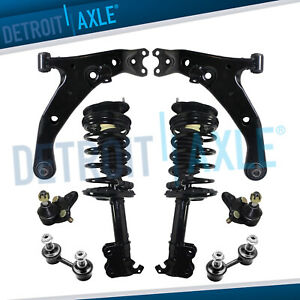 8pc Front Struts Control Arms Sway Bars Kit For Chevy Geo Prizm Toyota Corolla
