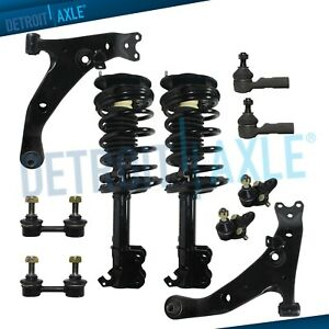 Front Struts Control Arms Sway Bars Tierods For Chevy Geo Prizm Toyota Corolla