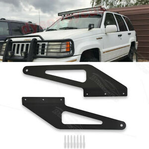 Fit 93 98 Jeep Grand Cherokee Zj Over Windshield 50 Curved Led Light Bar Mount