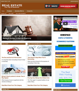 Real Estate Website Business For Sale Work From Home Easy To Manage Website