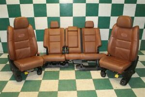 11 12 Grand Cherokee Overland Brown Leather Heated Cool Power Seats Set Backseat