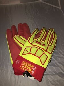 Pair Of Ringers Gloves R 169 Impact Neon Gloves Cut Resistant Size 2x