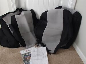 Toyota Tacoma 2015 Truck Seat Covers Unlimited Black Silver New