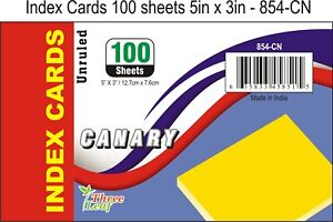 40 pack Of 100 Sheets 5 X 3 Index Cards Canary Unruled